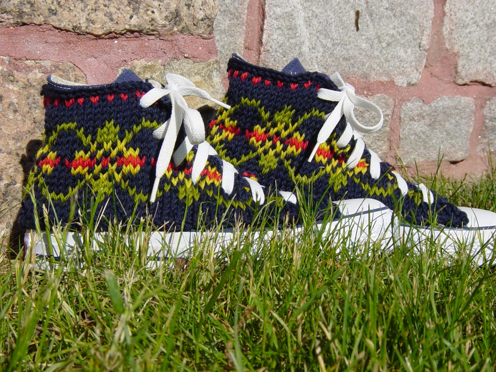 Fair Isle Knitting Wrong Side : Knitting new directions in art and design footwear