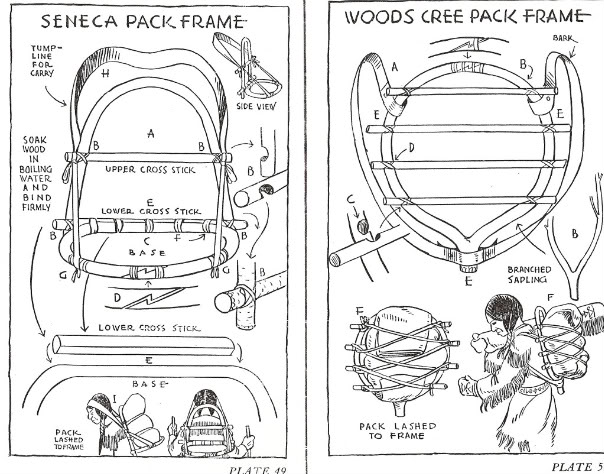 E Jager Senca and Woods Cree Pack Frames